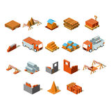 Construction project info graphic,detailed isometric vector illustration Royalty Free Stock Photo