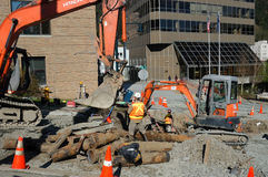 Construction project in Juneau Stock Photography