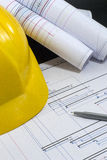 Construction project management Stock Photos