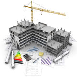 Construction project overview Stock Photo