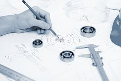 Construction project papers Royalty Free Stock Photo