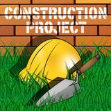 Construction Project Represents Building Venture 3d Illustration. Construction Project Builders Hat Represents Building Venture 3d Illustration Stock Images