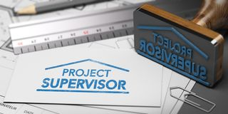 Construction Project Supervisor stock illustration