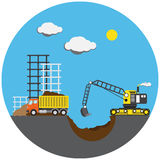 Construction project, vector illustration Stock Photo
