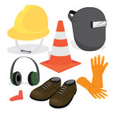 Construction protective gear Royalty Free Stock Image