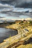 Construction of quay in Tyumen Royalty Free Stock Photos