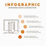 construction, ?quipement, ouvrier, laboratoire, calibre d'Infographics d'outils pour le site Web et pr?sentation Ligne ic?ne gris illustration de vecteur