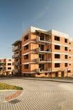 Construction résidentielle d'immeuble Images libres de droits