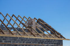 Construction rafters Royalty Free Stock Images