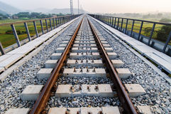 Construction of the railway royalty free stock photography
