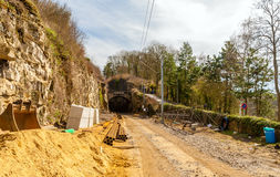 Construction of a railway in Luxembourg Stock Photos