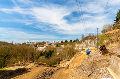 Construction of a railway in Luxembourg Stock Photo
