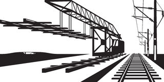 Construction of railway track Stock Images