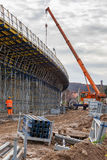 Construction of the railway viaduct Stock Photography