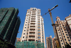 Construction of real estate. With blue sky Royalty Free Stock Photography