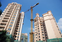 Construction of real estate. With blue sky Stock Image
