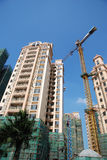 Construction of real estate. With blue sky Stock Images