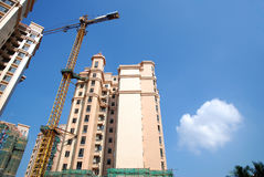 Construction of real estate. With blue sky Royalty Free Stock Image