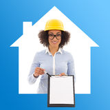 Construction and real estate concept - african american business Stock Images