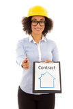 Construction and real estate concept - african american business Stock Photography