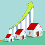 Construction of real estate. Growth chart. Stock  illustra Royalty Free Stock Photos