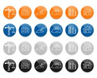 Construction and real estate line vector icons set Stock Photos