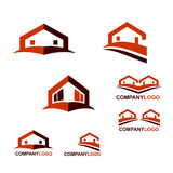 Construction and Real Estate logo. Or web icons royalty free illustration