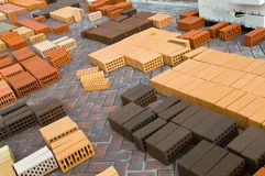 Construction red bricks Royalty Free Stock Images