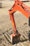 Construction red excavator dozer bucket detail Royalty Free Stock Photography