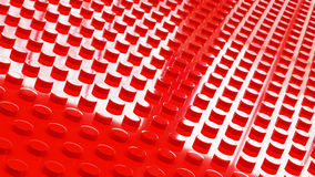 construction red toy bricks surface backgrounf 3d illusration Royalty Free Stock Images