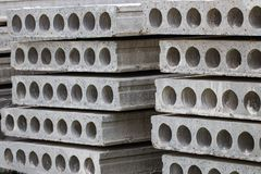 The construction of reinforced concrete slabs. Close-up Royalty Free Stock Photo