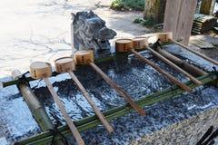 Japanese shrine precincts. The construction of religion / Japanese shrine royalty free stock photo