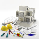 Construction. Renewables. Real Estate in Europe and USA Royalty Free Stock Image