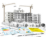 Construction. Renewables. Real Estate in Europe and USA Stock Images