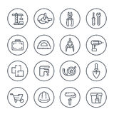 Construction and renovation line icons Stock Image