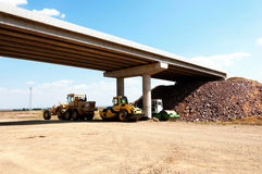 Construction and repair of highway Royalty Free Stock Photo
