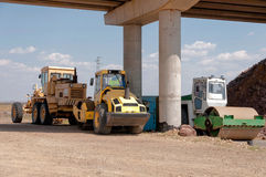 Construction and repair of highway Royalty Free Stock Photography