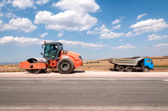 Construction and repair of highway Stock Image