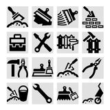 Construction and repair icons set Stock Photos