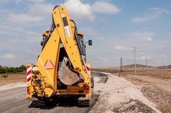 Construction and repair of roads and highways Royalty Free Stock Photo