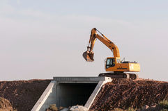 Construction and repair of roads and highways Stock Photo