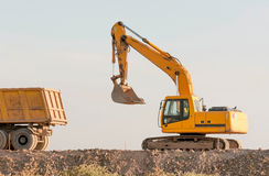 Construction and repair of roads and highways Stock Photography