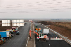 Construction and repair of roads and highways Stock Photos
