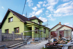 Construction or repair of the rural house royalty free stock images