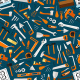 Construction and repair tools seamless wallpaper Royalty Free Stock Image