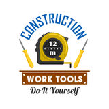 Construction and repairs work tools icon Royalty Free Stock Photography