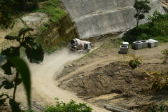 Construction of reservoirs logung Stock Image