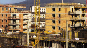 Construction of a residential building Stock Images