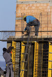 Construction of a residential building Stock Image