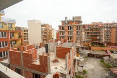 Construction of a residential building in Pomorie, Bulgaria Stock Photo